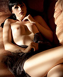 Sunny couch. Naughty Bailey Jay seducing with her hotness