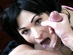 Bailey jay gets a facial. Unbelievably hot TS Bailey Jay giving