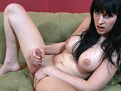 Frisky bitch. Naughty Bailey Jay masturbating