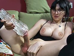 Fucked a rubber pussy Naughty Bailey screws a rubber cunt. Bailey Jay.