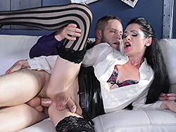 Penny and wolf Penny Tyler. Lustful Penny gets fuck real cruel