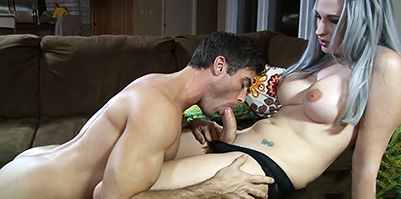 Bailey jay and lance hart. Bailey mouthfucks and jerks a dude
