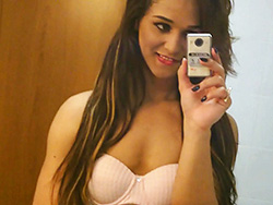 Teenager felipa lins selfie. Petite Felipa poses, strips & plays