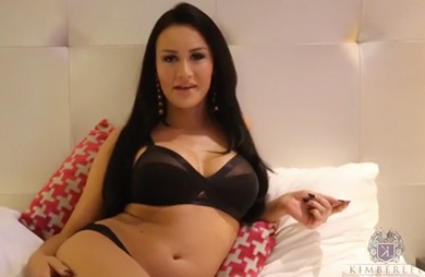 Watch kimberlee as she strokes her huge penish inside her hotel bedroom.