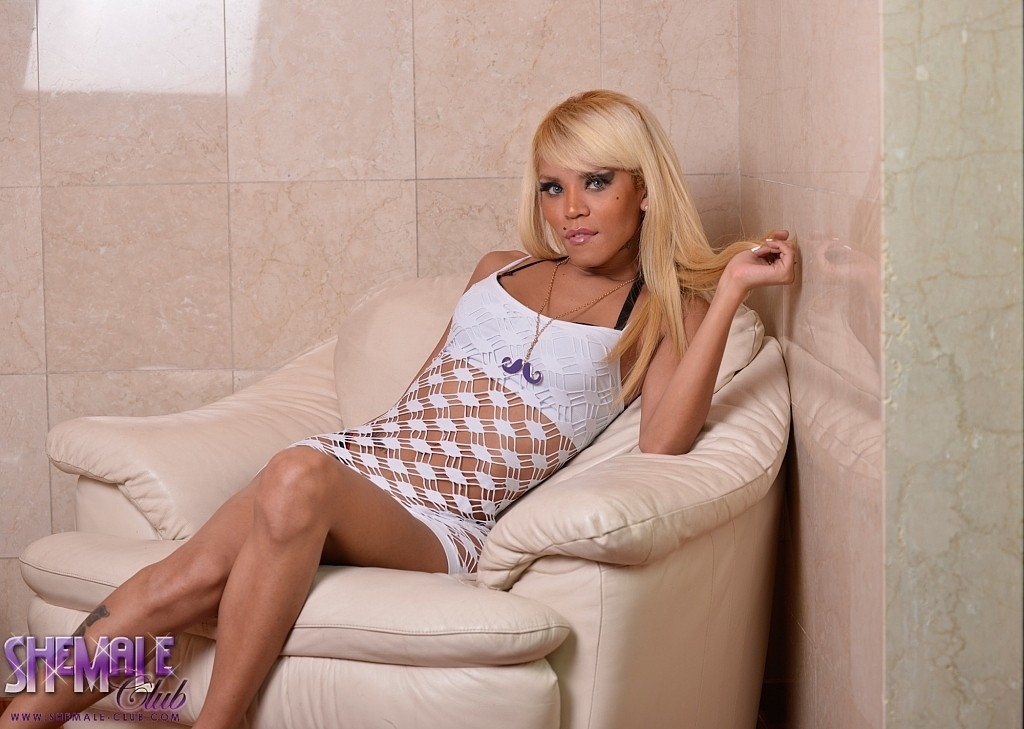 Vicky will mesmerize you in her horny see thru dress showing her