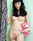 Pink teddy. Incredibly hot Bailey strips & poses